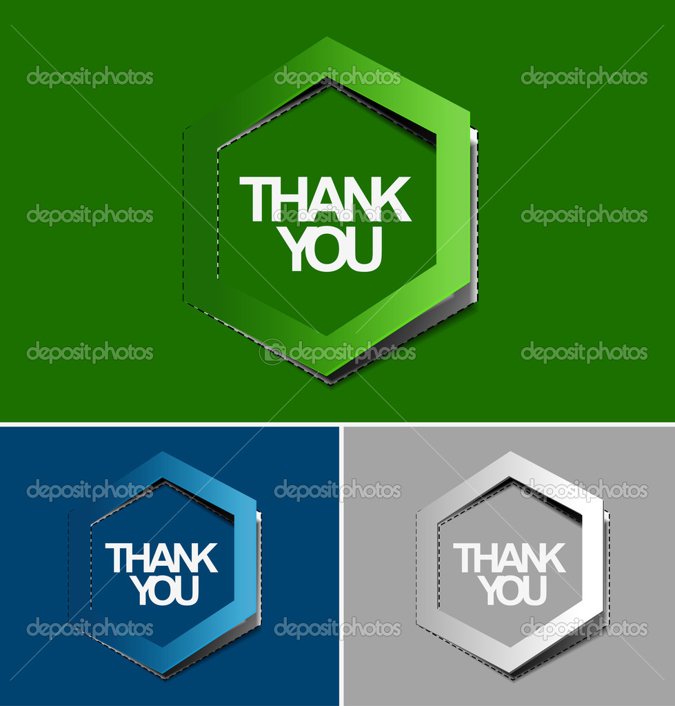 Thanks you sticker design. vector illustration.  — Stock Vector #12104274