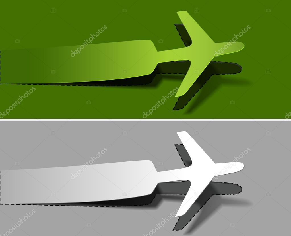 Vector label airplanes in flight icons element design.   Stock Vector #12104321