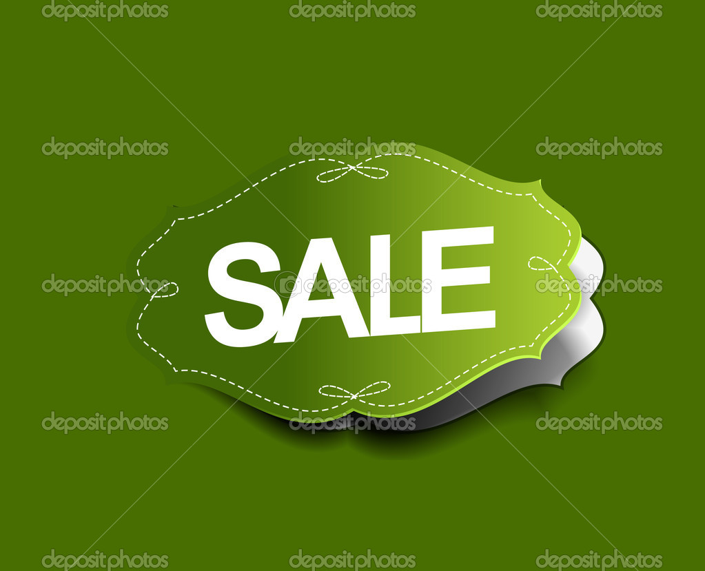 Sale stickers design. Vector Illustration  — Imagen vectorial #12104322