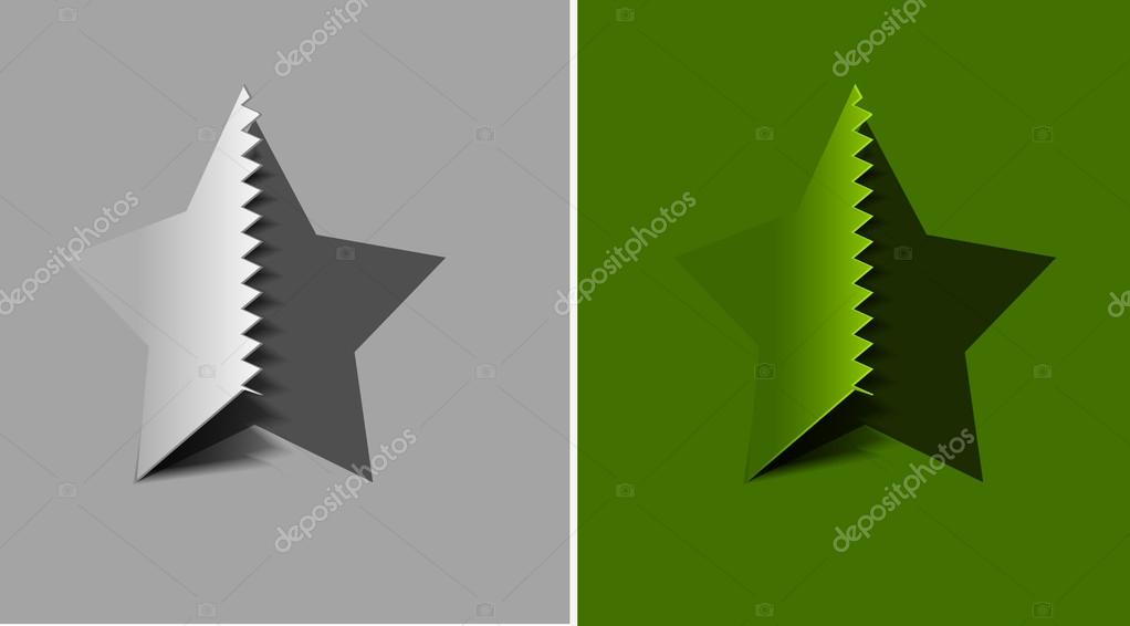 Vector peel off star, eps 10  — Stock Vector #12104329