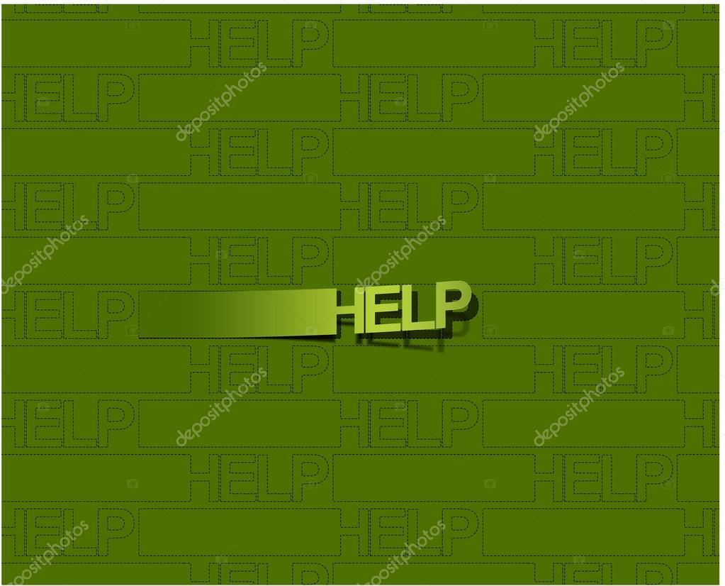 Vector glossy help web background design element.  — Stock Vector #12104525
