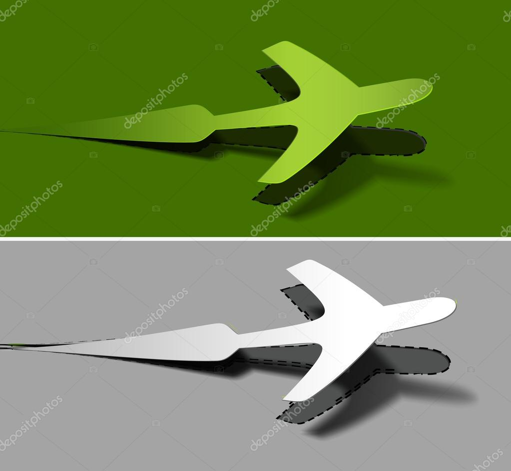 Label for airplane advertising stickers vector design illustration.  — Stock Vector #12104549