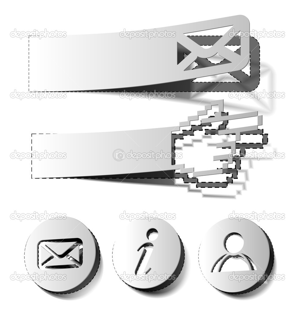 Icon set for web applications - vector design use.  — Stock Vector #12104569