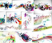 набор музыки концепции плакат шаблона — Cтоковый вектор