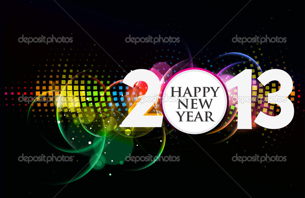 New year 2013 design vector element. — Stock Vector #14129684