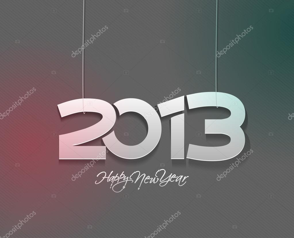 New year 2013 design vector element. — Stock Vector #14129693