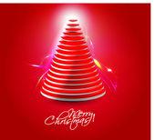 Merry christmas tree design — Stockvektor