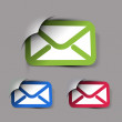 Email icons design — Stock Vector