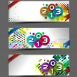 New year 2013 website header - Stock Vector