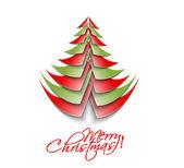 Modern christmas tree background — Stock Vector