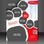 Vector business brochure, flyer, magazine cover & poster template — Stock Vector