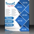 Vector business brochure, flyer, magazine cover & poster template — Stok Vektör