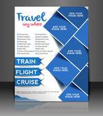 Brochure d'affaires de vecteur, flyer, couverture de magazine et modèle d'affiche — Vecteur