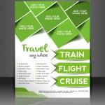 Vector Travel center brochure, flyer, magazine cover & poster template — Stock Vector