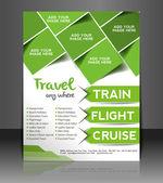 Voyage centre de vecteur brochure, flyer, couverture de magazine et modèle d'affiche — Vecteur