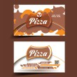 Stock Vector: Vector Pizzstore business card set