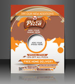 Ector Pizza Shop flyer, magazine cover & poster template — Stock Vector