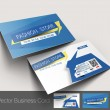 Vector business card set, isolated with soft shadow design — Stock Vector #29918813