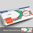 Vector Ice Cream Store Timeline Page Design Template — Imagen vectorial