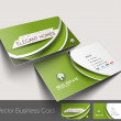Vector business card set, isolated with soft shadow design — Stock Vector