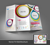 Find Similar Images Tri-Fold Corporate Business Store Mock up & Brochure Design — Stock vektor
