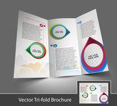 Find Similar Images Tri-Fold Corporate Business Store Mock up & Brochure Design — Stock Vector