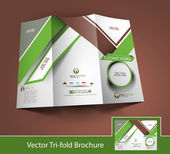 Vector Business Front Side Brochure Design — Stock Vector