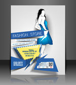 Vector Fashion store Flyer & Poster Cover — Stock Vector