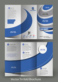 Tri-Fold Corporate Business Store Mock up & Brochure Design — Stock Vector