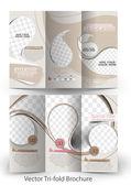 Tri-Fold Corporate Business Store Mock up & Brochure Design — Stock Vector