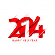 Happy new year 2014 celebration greeting card design. — Stock Vector