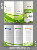 Corporate Business Tri-Fold Mock up & Brochure Design — Stock Vector