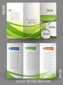 Corporate Business Tri-Fold Mock up & Brochure Design — Stock Vector