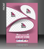 Jewelry Store Flyer & Poster Template — Stock Vector