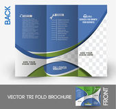 Tri-Fold Call Center Mock up & Brochure Design — Wektor stockowy