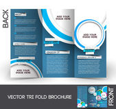Tri-fold resor mock up & broschyr design — Stockvektor