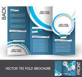 Tri-Fold Travel Mock up & Brochure Design — Stock Vector