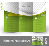 Tri-Fold Real Estate Agent Mock up & Brochure Design — Stock Vector