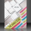 Dance Club Flyer & Poster Cover Template — Imagen vectorial