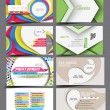 Vector business card set  — Stok Vektör