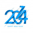 Happy new year 2014 Text Design — Image vectorielle