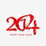 Happy new year 2014 Text Design — Stock Vector