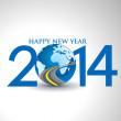 Happy new year 2014 Text Design — Stock Vector #33944029