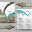 Stock Vector: Global Business Front & Back Flyer Template