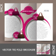 Bag Store Tri-Fold Mock up & Brochure Design — Stock Vector