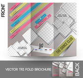 Dance Club Tri-Fold Mock up & Brochure Design — Stock Vector