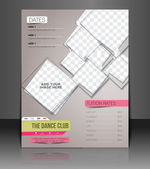 Dance Club Flyer & Poster Cover Template — Stockvector