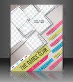 Dance club flyer & poster coperchio modello — Vettoriale Stock