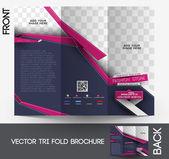 Tri-fold Fashion Brochure Design Vector Illustartion. — Stock Vector