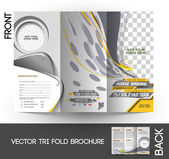 Horse Riding Tri-Fold Mock up & Brochure Design — Stock Vector